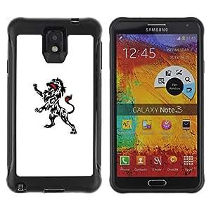 "Hypernova Defender Series TPU protection Cas Case Coque pour SAMSUNG Galaxy Note 3 III / N9000 / N9005 [Tinta Tatuajes Arte Limpio Blanco Negro minimalista""]"