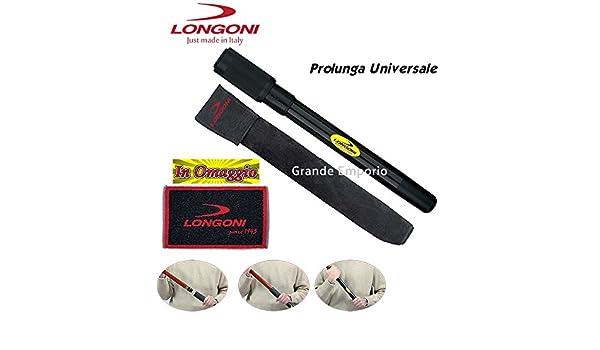 Billar accesorios alargador universal Longoni para tacos con Tiros de diámetro mm.30 A mm.32, largo cm.40, con Toallita Longoni de regalo.: Amazon.es: Deportes y aire libre