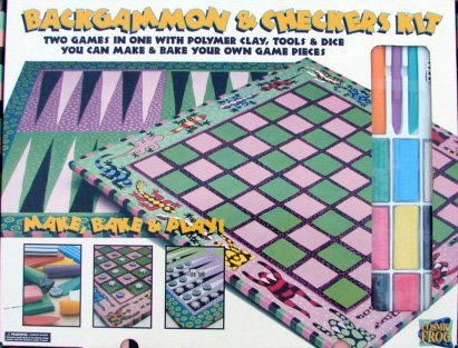 Backgammon and Checkers Kit-Make  Bake and Play!