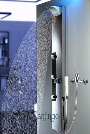 Panel de ducha de acero inoxidable de Sanlingo. Columna de ducha ...