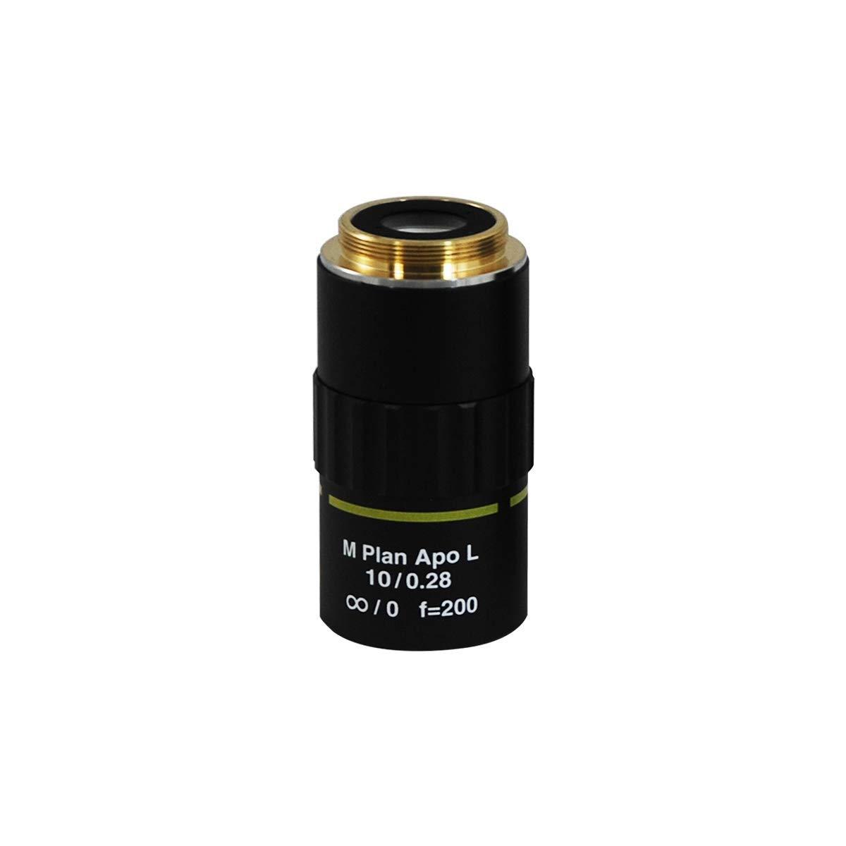 BoliOptics 10倍 無限遠焦点 (M Plan Apo L) アポクロマティック 金属顕微鏡 対物レンズ 作動距離 34mm MT06033341   B078JLGWYK