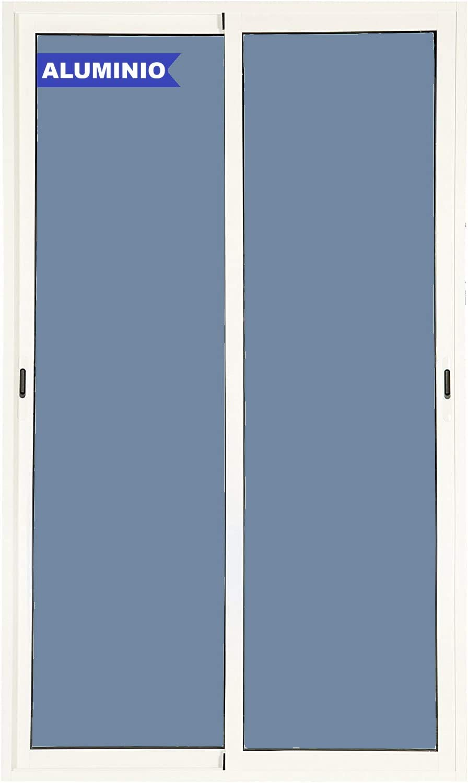 Balconera Aluminio Corredera 1500 ancho x 2000 alto 2 hojas (marco preparado en kit)