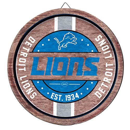 FOCO NFL Detroit Lions Wooden Barrel Signwooden Barrel Sign, Team Color, One Size