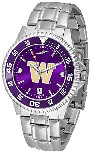 SunTime University of Washington Men's Watch Stainless Steel AnoChrome Wristwatch