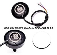 FPVDrone Ublox NEO M8N 8N GPS Module Built-in Compass with Protective Shell+GPS Anti-interference Shield Stand Antenna Mount for APM APM2.52 APM 2.6 Flight Controller from LongJinSheng