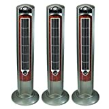 Lasko WOODGRAIN 42'' Tower Fan with All NEW FRESH AIR IONIZER, Remote Control Included (3 pack)
