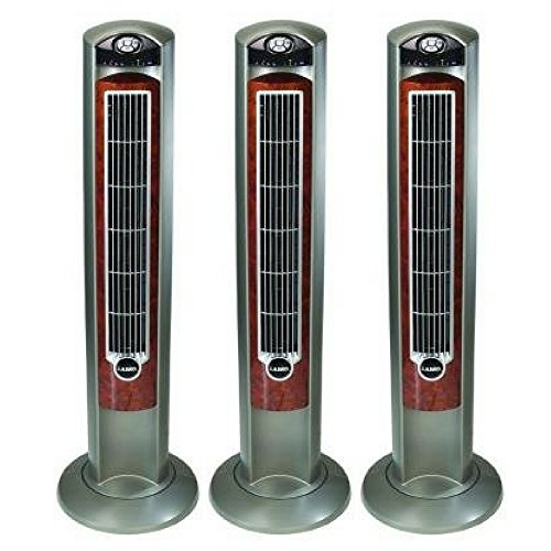 "Lasko WOODGRAIN 42"" Tower Fan with All NEW FRESH AIR IONIZER, Remote Control Included (3 pack)"