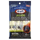 Kraft Natural Low Moisture Part Skim Jalapeno String Cheese Snack, 10 Ounce -- 12 per case.
