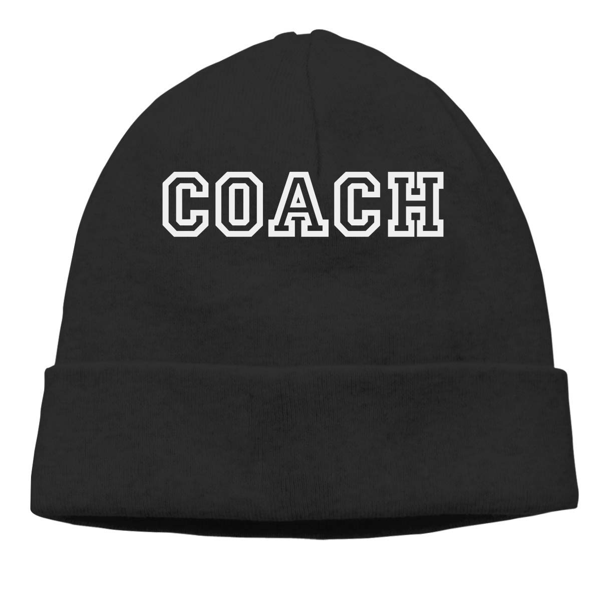 Coach Warm Stretchy Solid Daily Skull Cap Knit Wool Beanie Hat ...