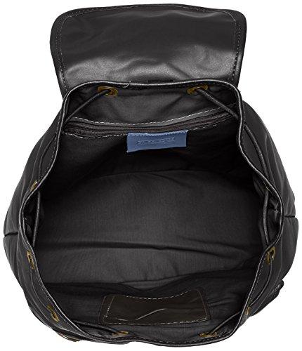 CTM à Nero 100 in par Donna 35x32x10cm cuir véritable Made Noir dos Italy sac rFngOx5r