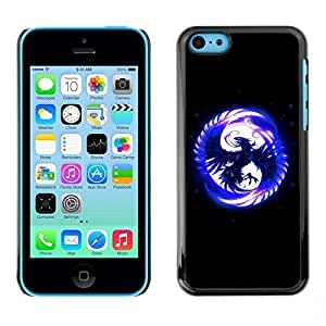 Hard Case or Cover for iPhone 5C Blue Phoenix In Moon iphone cases for girlslifeproofase iphone