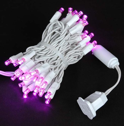 Pink Led Christmas Lights White Wire