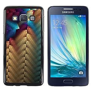 Be Good Phone Accessory // Dura Cáscara cubierta Protectora Caso Carcasa Funda de Protección para Samsung Galaxy A3 SM-A300 // Beige Blue Purple Pattern