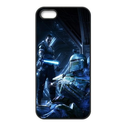 Star Wars The Force Unleashed 2 2 coque iPhone 5 5s cellulaire cas coque de téléphone cas téléphone cellulaire noir couvercle EEECBCAAN00076