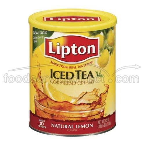 Lipton Ice Tea Mix Natural Lemon Flavor (418640) 53 oz (Pack of 6) by Lipton