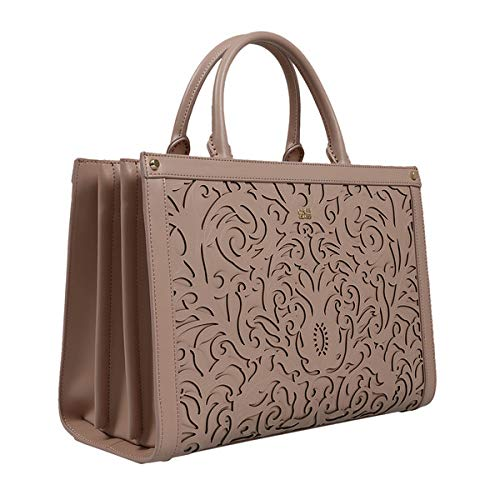 270c5b5e9881a Image Unavailable. Image not available for. Color: Roberto Cavalli HXLPD5  020 Beige Tote for Womens