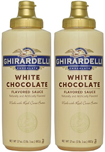 Ghirardelli White Chocolate Sauce 17oz Squeeze Bottle (Pack of 2)
