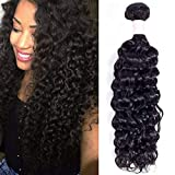 Brazilian Kinky Curly Hair 1 bundles Deal (16 Inch Brazilian Virgin Curly Hair 100g/pc Unprocessed Brazilian Virgin Human Hair Weave Natural Color ...