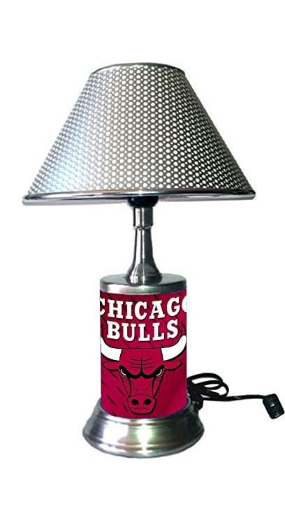 Amazon.com: Chicago Bulls lámpara con cromado sombra: Sports ...