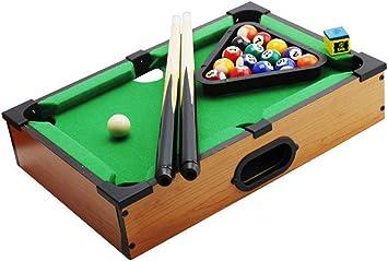 Super Black Bull El Juego de Billar Mini Tabletop Pool Set Incluye Bolas de Juego, Palos, Tiza y triángulo, portátil y Divertido para Toda la Familia: Amazon.es: Juguetes y juegos