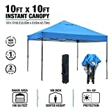 KdGarden Ez Pop Up Canopy Tent Outdoor Commercial Instant Shelter with Wheeled Carry Bag, 10 by 10 Feet, Blue