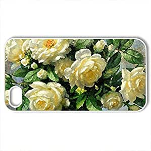 White Rose - Case Cover for iPhone 4 and 4s (Flowers Series, Watercolor style, White)