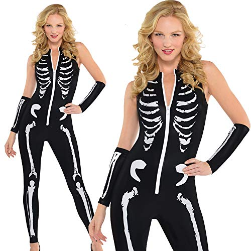 Bonaweite Women Skeleton Bones Halloween Dress Bodycon Party Fancy Dresses