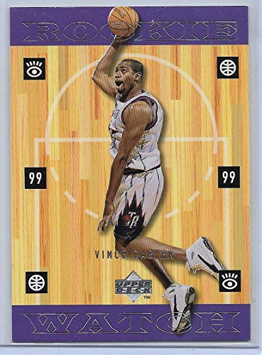 1998-99 Upper Deck Hardcourt Basketball Vince Carter Rookie Card # 316