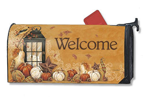 Mailwraps Autumn Lantern Magnetic Mailbox Cover #09331
