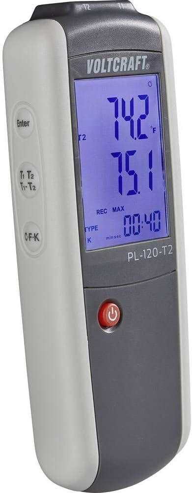 Voltcraft Pl 120 T2 Temperatur Messgerät 200 Bis 1372 C Fühler Typ K J Baumarkt