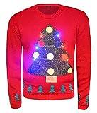 LED Weihnachtspullover, lange Ärmel Weihnachtsbaum Licht