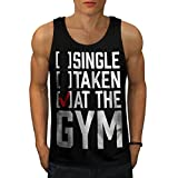 Single Taken At Gym Workout Joke Men NEW Black S-2XL Tank Top | Wellcoda