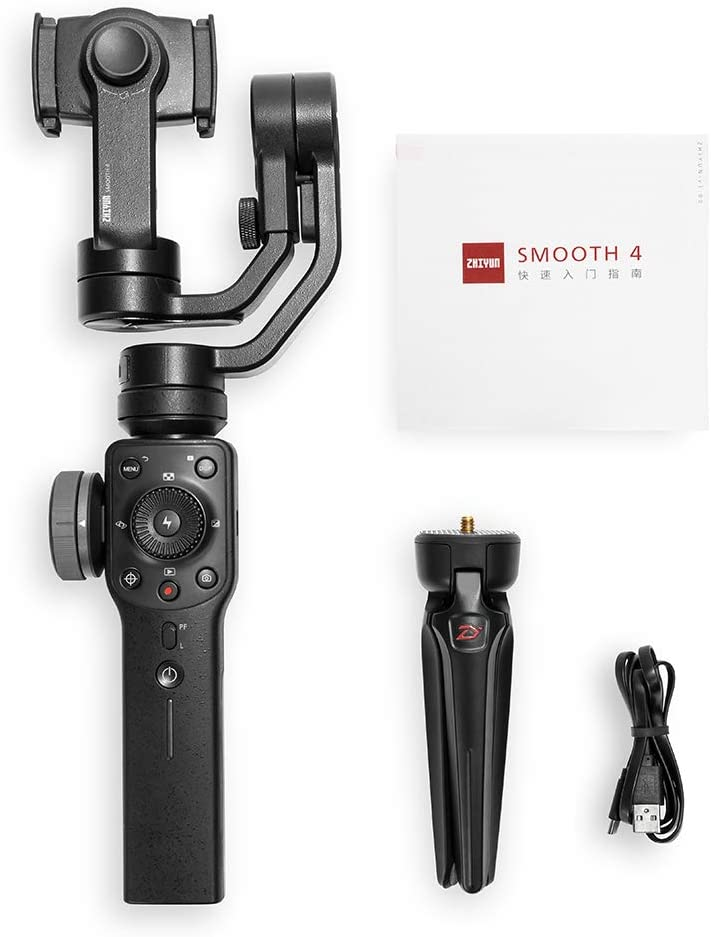 HUAXING 3-Axis Gimbal Stabilizer Portable Stabilizer Camera Mount for Smartphone Action Camera