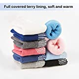 VWU Thick Cotton Socks with Grips,Baby Toddler Kids