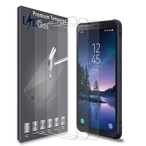 [3 Pack] LK Screen Protector for Samsung Galaxy S8 Active, [Japan Tempered Glass] 9H Hardness with Lifetime Replacement Warranty [Not Fit for Galaxy S8/S8 Plus Model]