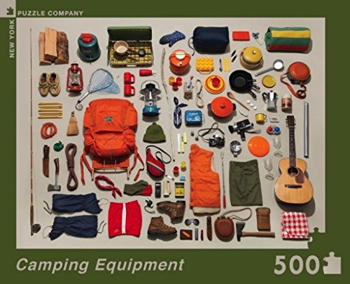 New York Puzzle Company - Jim Golden Camping Equipment - 500 Piece Jigsaw Puzzle