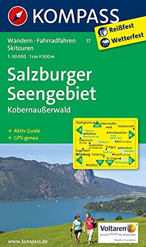 Salzburger Seengebiet - Kobernaußerwald: Wanderkarte mit Aktiv Guide, Radwegen und alpinen Skirouten. GPS-genau. 1:50000 (KOMPASS-Wanderkarten, Band 17)