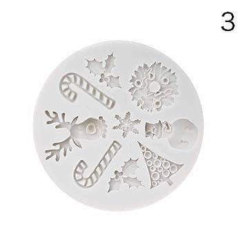 benhai 1pc líneas de caramelos de Navidad moldes de copos de nieve árbol de Navidad muñeco