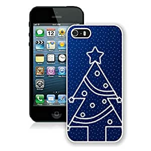 New Fashion Design Hard Protect Skin Case Cover Shell for Mobile Cell Phone Apple Iphone 5/ 5S-Merry Christmas,Christmas tree iPhone 5 5S Case 9 White