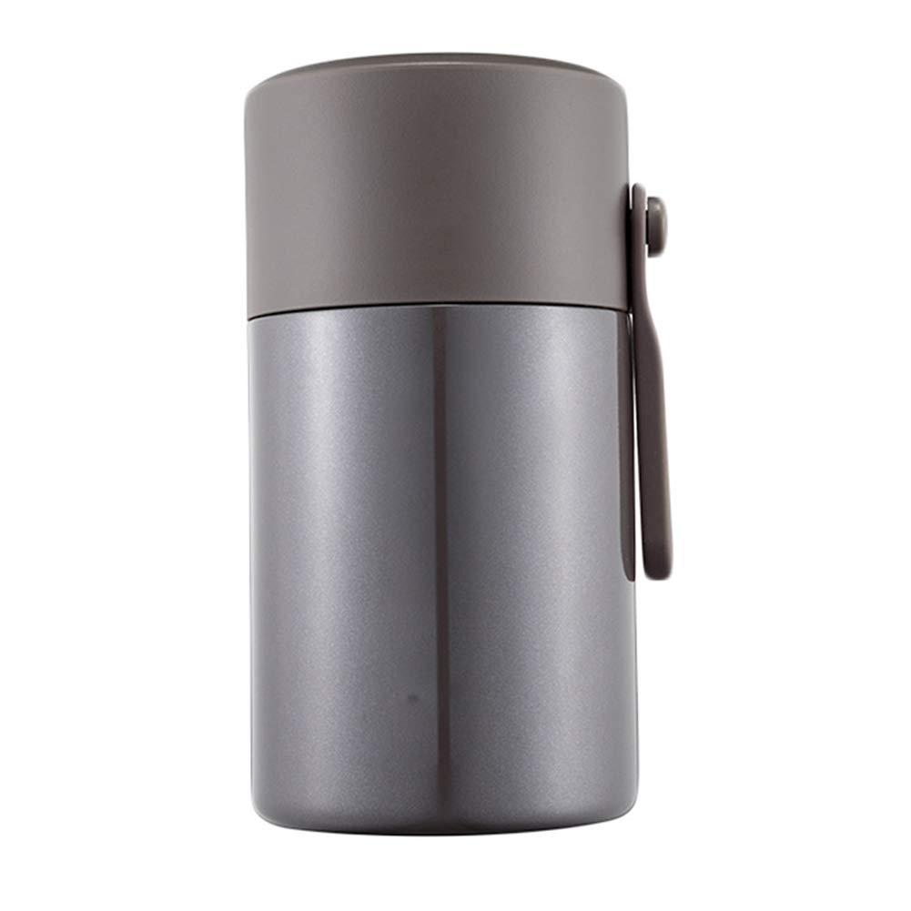 ROSEEH Schwelende Tasse Aus Edelstahl Hohe Kapazität Büroangestellter Student Kind Thermische Lunchbox,grau