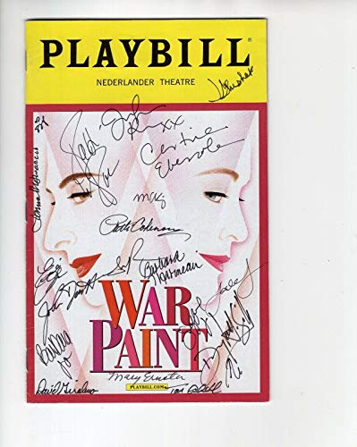(War Paint Hand Signed Ny City Playbill+coa Signed By Cast+patti)
