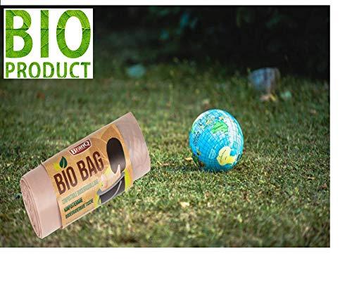 51vKNDdLzZL BranQ - Home essential Unisex-Adult Toilettenbeutel Bio 20 Stück Limited Edition für Campingtoiletten, braun, 22 l
