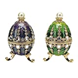 Design Toscano The Bogdana Collection Faberge-Style Enameled Eggs: Veronika & Valentina