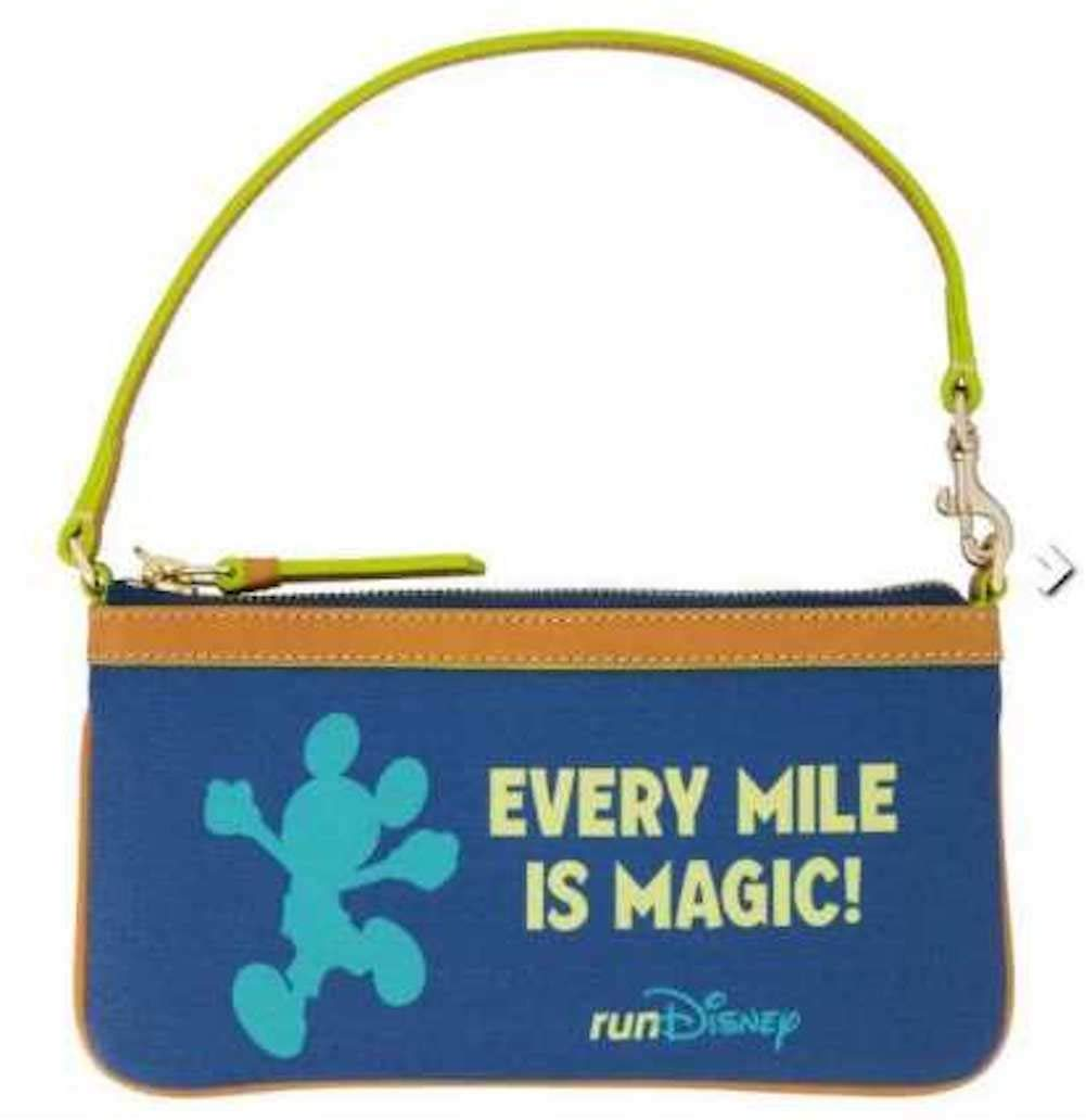 Disney Dooney and Bourke runDisney 2019 Marathon Wristlet Purse Bag Every Mile Is Magic
