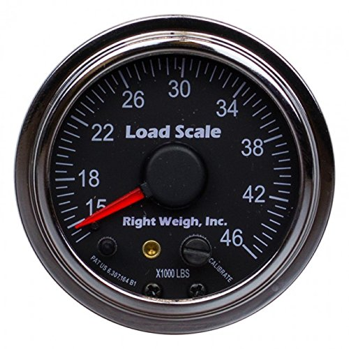 510-46-C Chrome Interior Analog Onboard Load Scale - For Tandem Axle Air Suspensions with One Height Control Valve - 7 Color LED