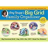 2017 Amy Knapp Big Grid Wall Calendar: The essential organization and communication tool for the entire family