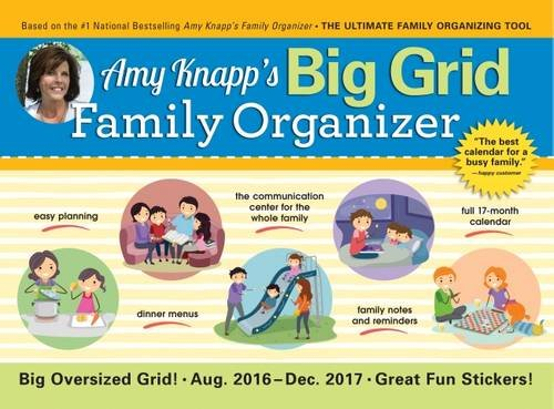 2017 Amy Knapp Big Grid Wall Calendar: The essential organization and communication tool for the entire - And Calendars Organizers