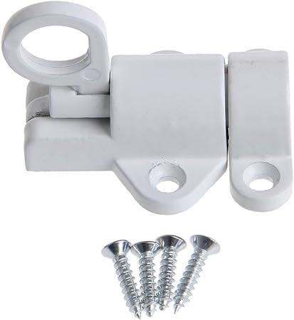 YUYUE21 (1pc Cierre automático de aleación de Aluminio Pestillo de la Puerta de Rebote Pestillo de Aluminio - Blanco: Amazon.es: Hogar
