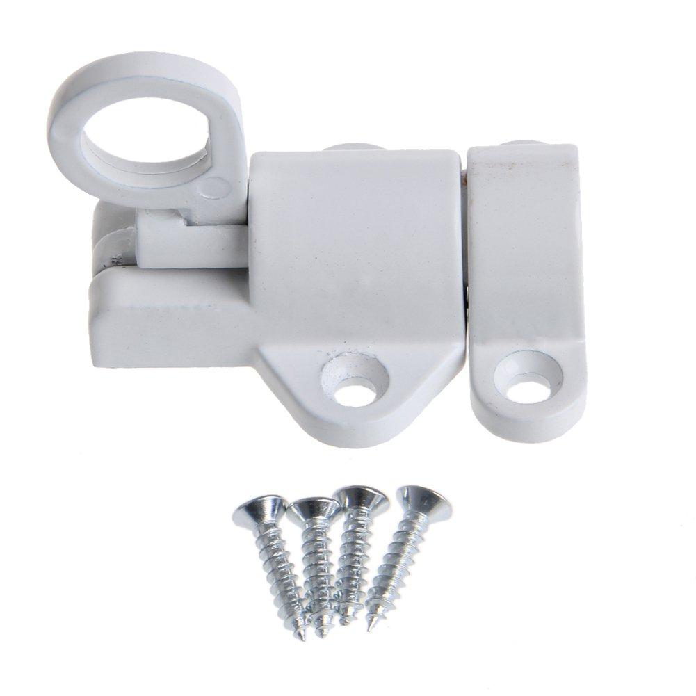 1pc loquet en Aluminium de verrou de Porte de Rebond /à Fermeture Automatique en Alliage daluminium - Blanc YUYUE21