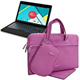 Evecase Waterproof Handle Carrying Sleeve Case Bag w/ Mouse Pad and Accessories Pouch for Nextbook Ares 11 & Flexx 11 11.6-Inch Laptop - Purple